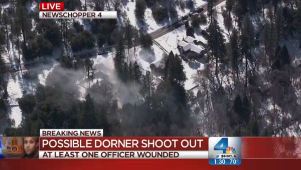 UPDATE – Frightening gun battle rages NOW in Big Bear mountain with fugitive Chris Dorner